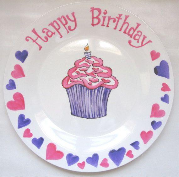 Hand Painted Birthday Plate