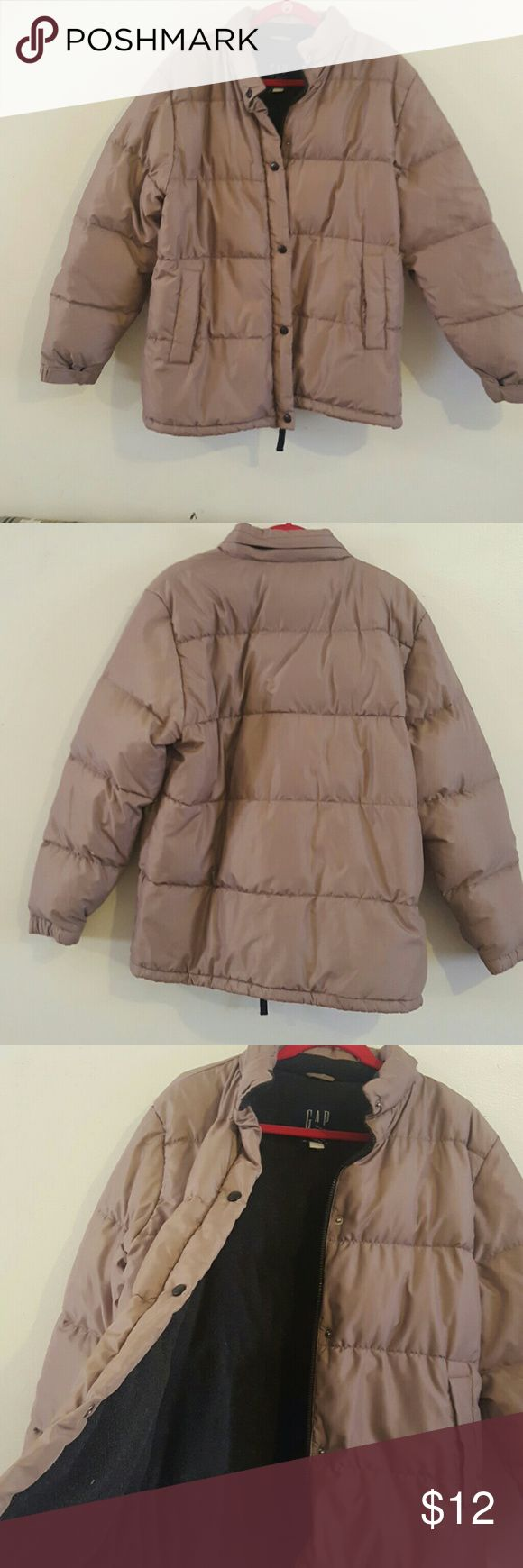 Gap Jacket Tan Gap puff jacket perfect for the cold weather. Jacket does have a couple markings on the left sleeve hardly noticeable. If you any questions or need more photos let me know. :) GAP Jackets & Coats