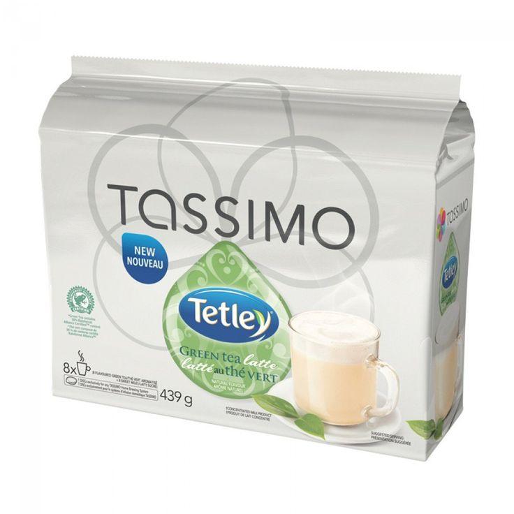 Tassimo Tetley Green Tea Latte 8/8 T-Discs | Delicious Green Tea Latte, instantly made with your #tassimo. #tdisc #tetley #greentea #tea