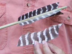 Easy, Fast and Simple traditional arrow fletch with turkey feathers.