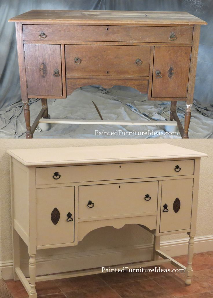 This antique buffet table was a real mess when we got it. It had 2 broken legs that needed to be fully repaired.
