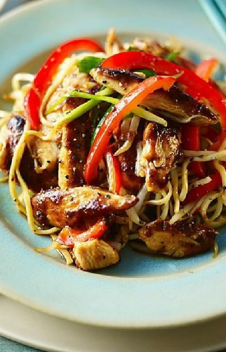 Low FODMAP and Gluten Free Recipe - Chicken chow mein --- (Update) --http://www.ibssano.com/low_fodmap_recipe_chicken_chow_mein.html