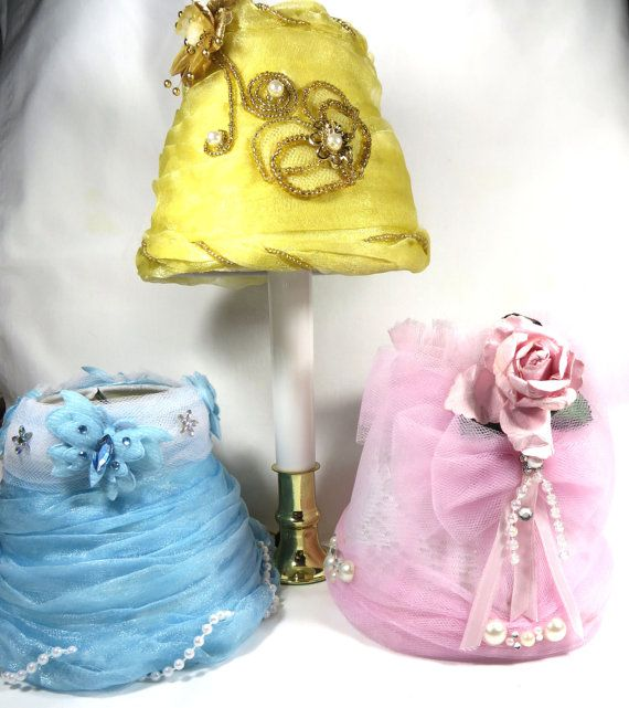 Shabby Chic Tulle Mini Lampshade Collection by RobinsNestHome, $25.00