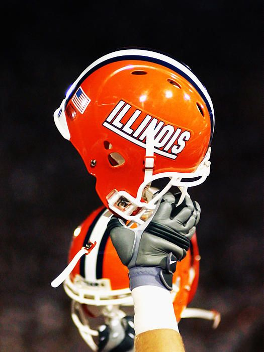 Illinois Football Helmet Photograph by University of Illinois - Illinois Football Helmet Fine Art Prints and Posters for Sale