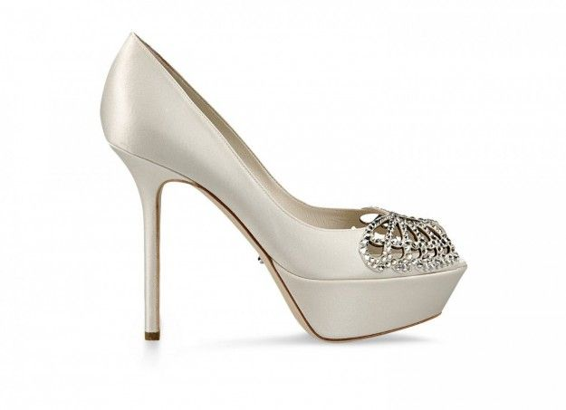 Pumps da sposa in raso Sergio Rossi