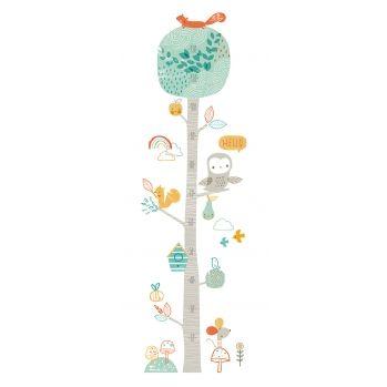 Wandaufkleber-Messlatte \'Baum mit Babytieren\' 124cm                                                                                                                                                                                 Mehr