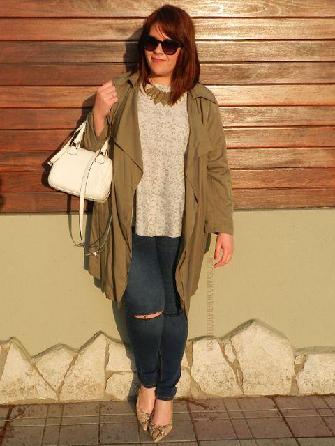 Plus Size Fashion for Women - VÍSTETE QUE VIENEN CURVAS: Must Primaveral: Chaqueta Fluída · Outfit