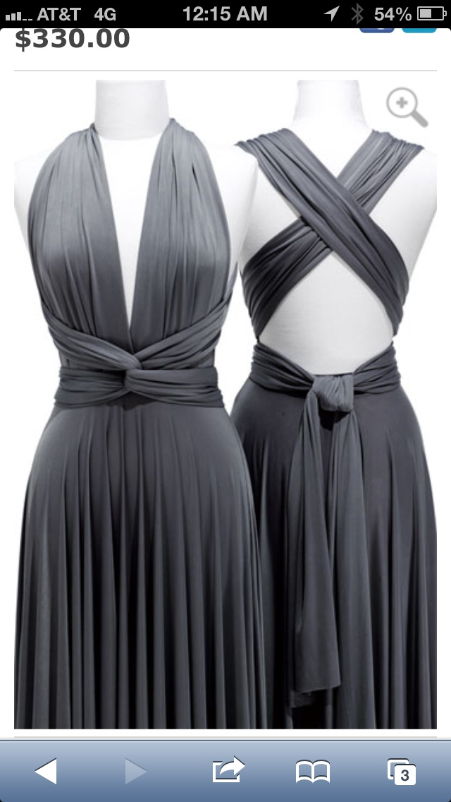 two birds bridesmaid dresses in gray