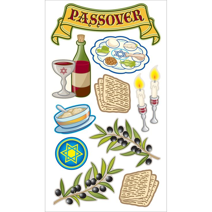 Sticko Seasonal Stickers Passover Tradition