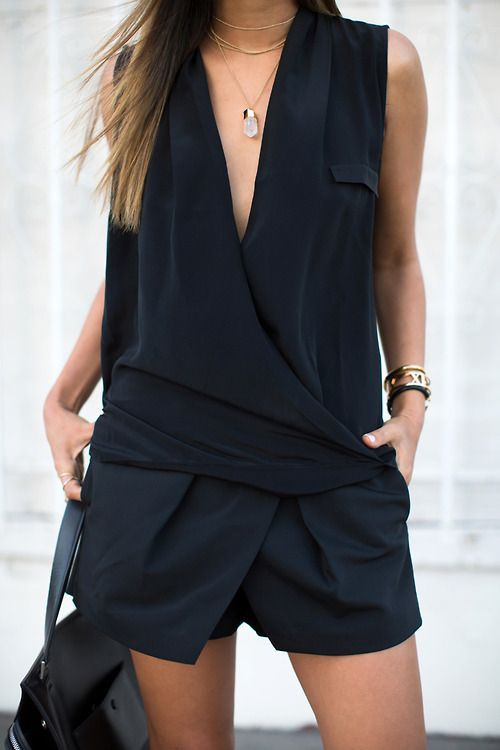 Do you love this outfit? Check out inspiration at http://www.hercouturelife.com/style/how-to-wear-a-playsuit-3/