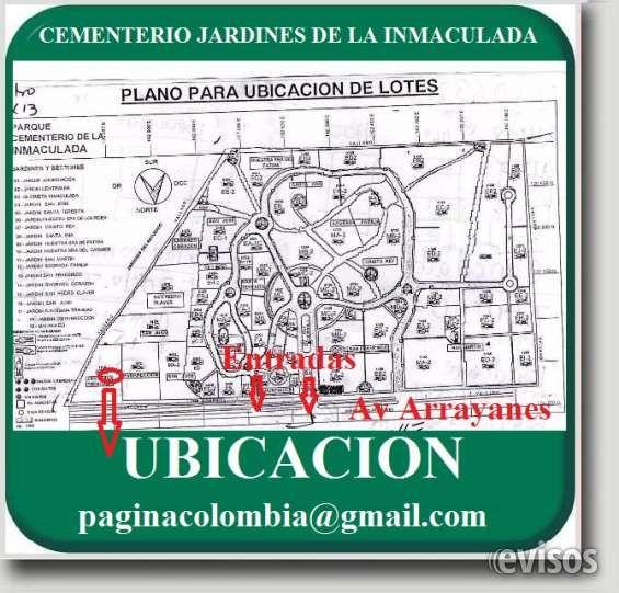 CEMENTERIO JARDINES LA INMACULADA. 2 LOTES TRIPLES, Servicios Pagos. Nuevos. Vitalicios. E VENDO 2 LOTES TRIPLES, CEMENTERIO JARDINES DE LA INMACULAD .. http://bogota-city.evisos.com.co/cementerio-jardines-la-inmaculada-2-lotes-triples-servicios-pagos-nuevos-vitalicios-e-id-440690