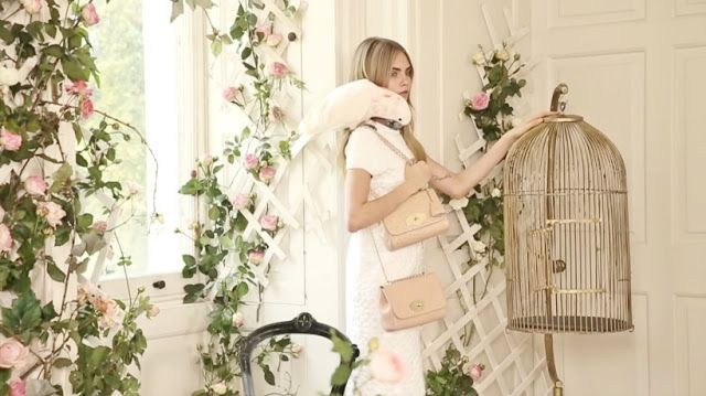 Cara Delevingne for Mulberry Spring Summer 2014 campaign