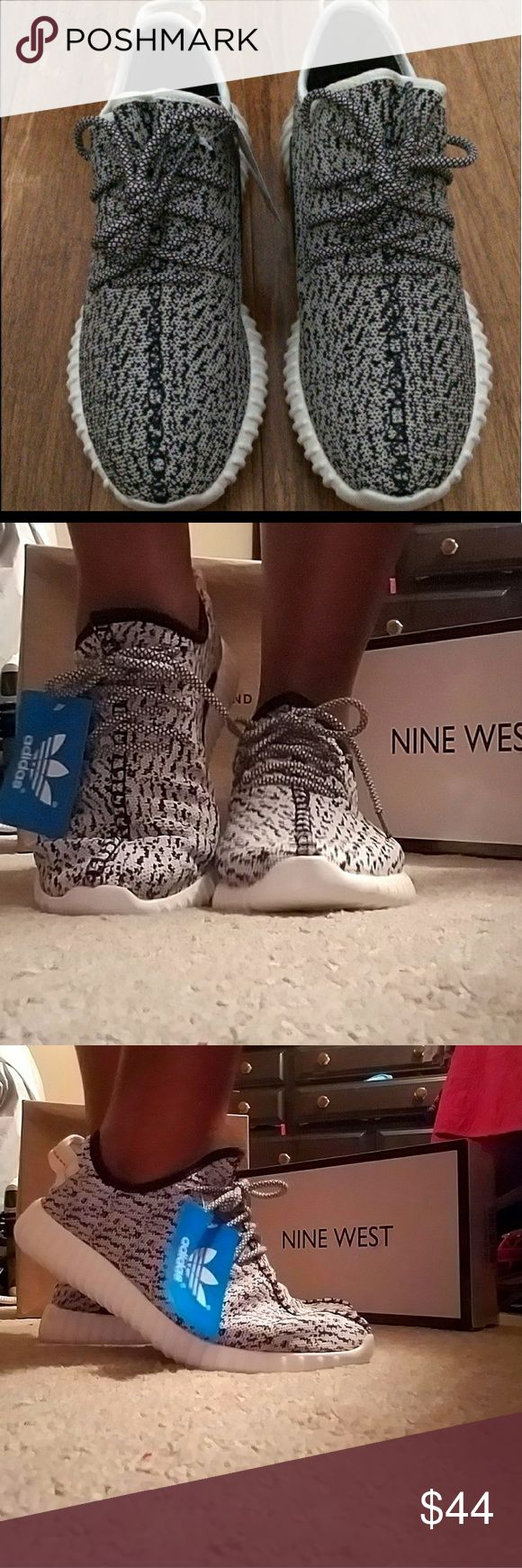 NON AUTHENTIC YEEZYS Great pair of replicas! Brand new and never worn! Please know NO TRADES and PRICES FIRM!  🦋 adidas Shoes Athletic Shoes