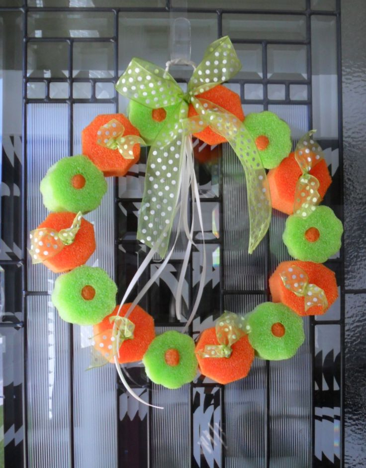 swimming noodle wreath