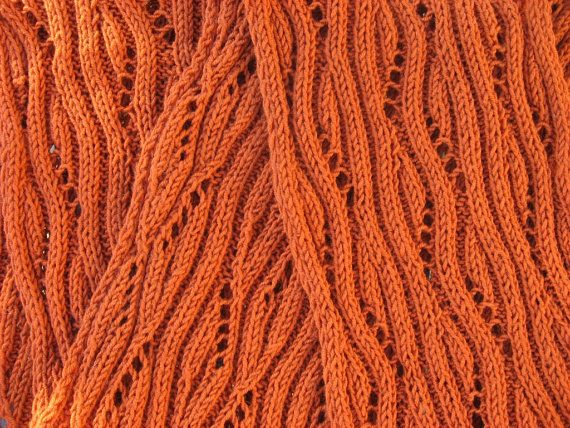 Handknit Womens WooI Extra Long Mango Tango Scarf. $48.75, via Etsy.