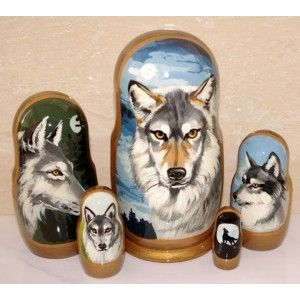 Wolves #russiandolls #diy #babushka #matroyshka #handmade #unique #animals #wildlife