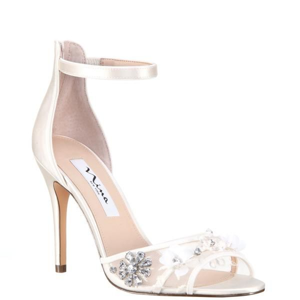 Clarity Ivory Satin Bridal Shoes Wedding Shoes Pink Wedding Shoes