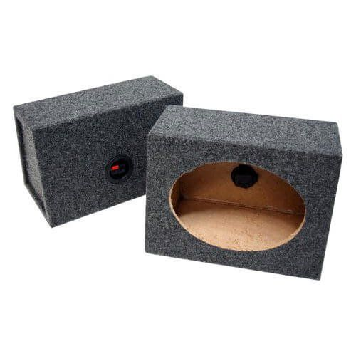 Atrend 6X9PR B Box Series 6 x 9 Inches Pair Speaker Box with Speaker Terminal:   Attend Pro Series 6x9PR angled speaker enclosure pairs. MDF Construction Black & Red Spring Loaded Terminal Cups Premium Carpeted Finish with Rounded Edges Glued and Braced Sold as Pair 6x9 Pairs