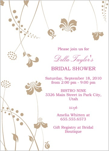 Vintage Sprigs Bridal Shower Invitation