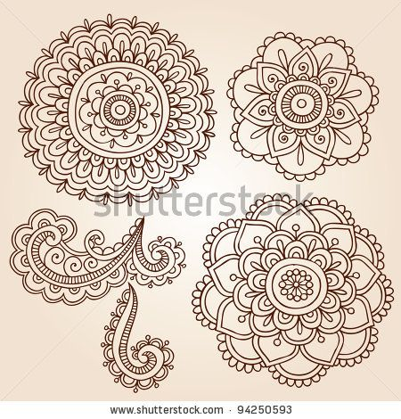 henna designs for flowers on paper - Google Search