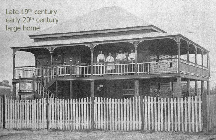 A large Cairns house in the late 19th/early 20th century.A♥W