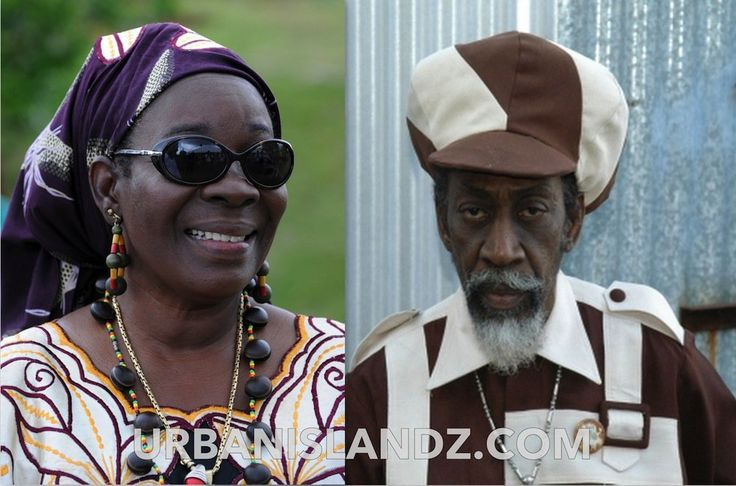 *Rita Marley* & Bunny Wailer. More fantastic pictures and videos of *Bob Marley & The I-Threes* on: https://de.pinterest.com/ReggaeHeart/