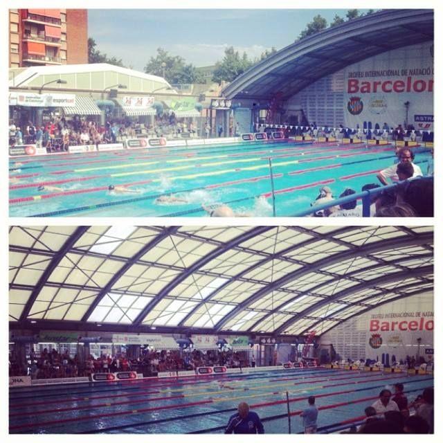 Roof open...Roof closed! #MareNostrum — at Mare Nostrum, Barcelona. #Speedo #Pool #Swimmingpool #Swim #Barcelona #Indoorpool #Outsidepool