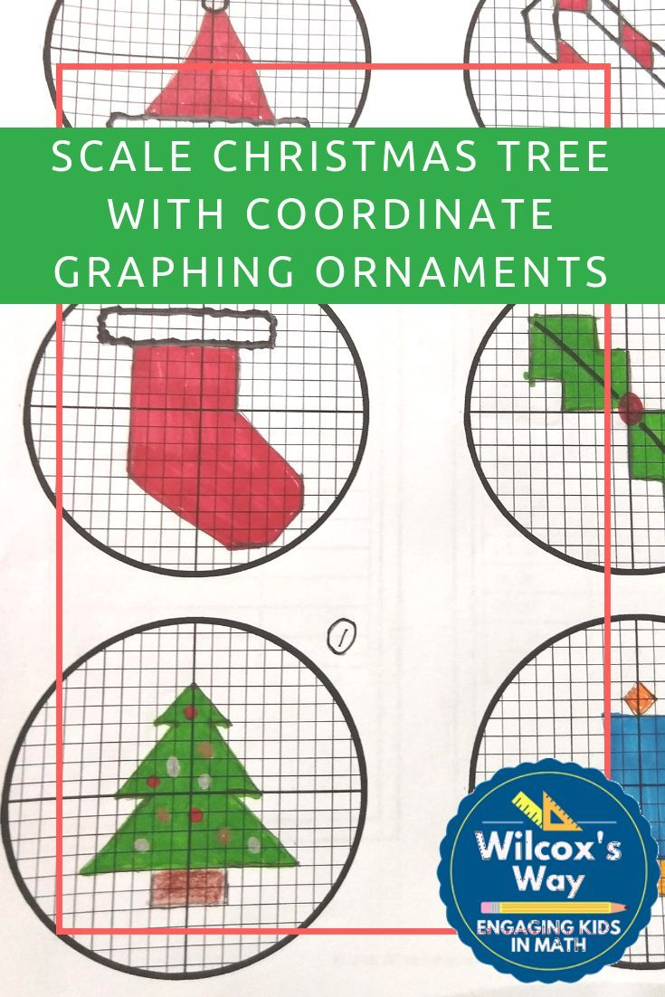 Christmas Math Scale Model Tree with Coordinate Graphing