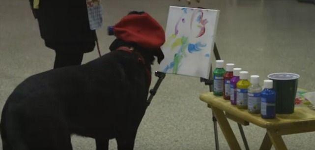 Guardate che Quadri Stupendi fa questo Cane - Da non credere!