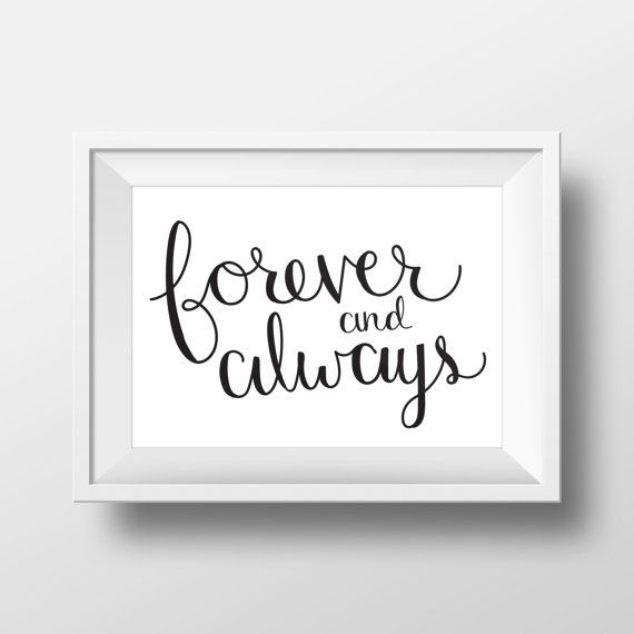 Forever and Always Print by LittleInklingsDesign on Etsy