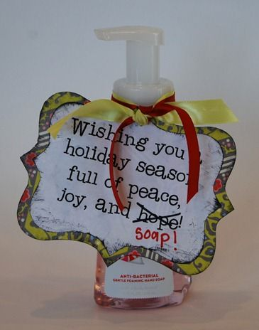 Cute Soap Teacher Gift : Christmas Soaps, Teacher Gifts, Gifts Ideas, Gift Ideas, Secret Santa, Neighbor Gifts, Teachers, Christmas Gifts, Holidays Seasons