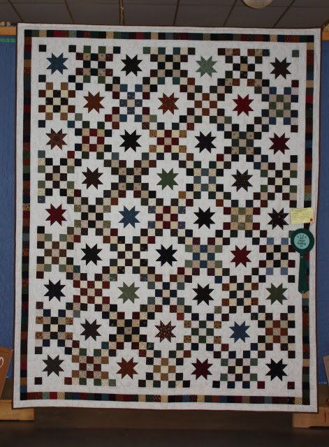 star and irish chain quilt pattern The quilt above was titled Double Irish Chain with Stars ...