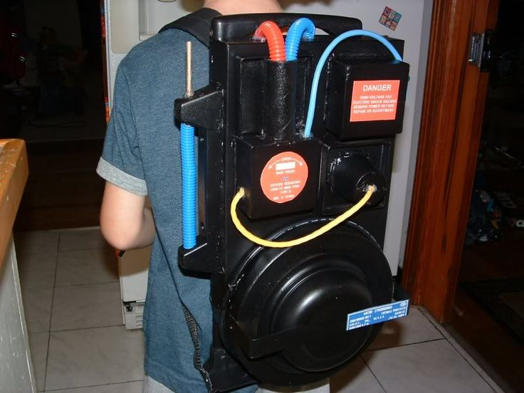 Homemade Ghostbusters Backpack