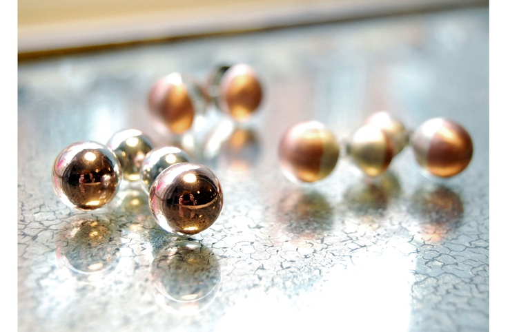 spheres and hemisheres - silver and cobber