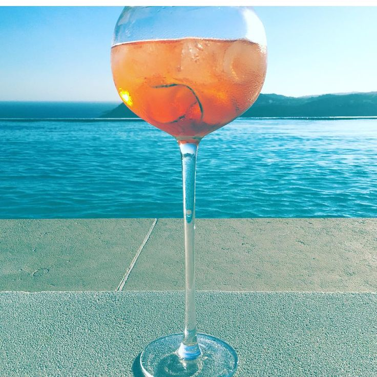 Aperol Spritz combined with a stunning view!