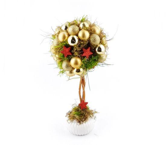 Drzewko Świąteczne z Bombek Złote