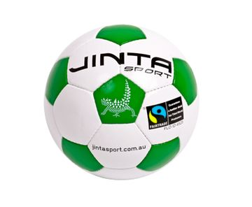 Soccer Ball Team 4. 'A great combination of a quality and affordability. Synthetic leather and a latex bladder give this ball great bounce and shape. 32 hand-stitched panels. Fully compliant with official international ball standards.' #soccer #football #fairtrade #ballsforgood