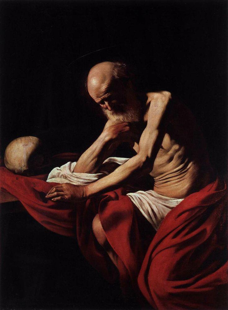 Le Caravage, Saint Jerome en Meditation 1605