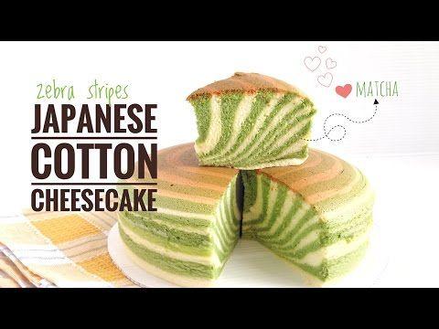 Zebra Stripe Japanese Cotton Cheesecake [Gluten Free] - YouTube