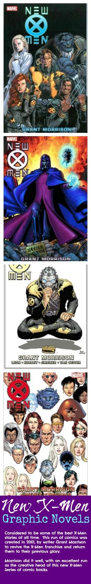 Best X-men Graphic Novels  Considered to be some of the best X-Men stories of all time.  This run of comics was created in 2001, by writer Grant Morrison to revive the X-Men #comicbooks #superheroes #wolverine #xmen