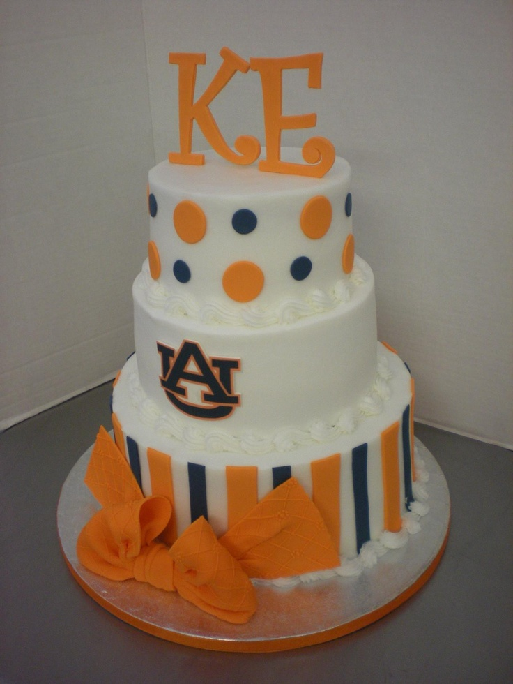 Auburn Cake by Fiesta Cakes ~ Just wish the Orange was More Like Ours and a Deeper Burnt Orange