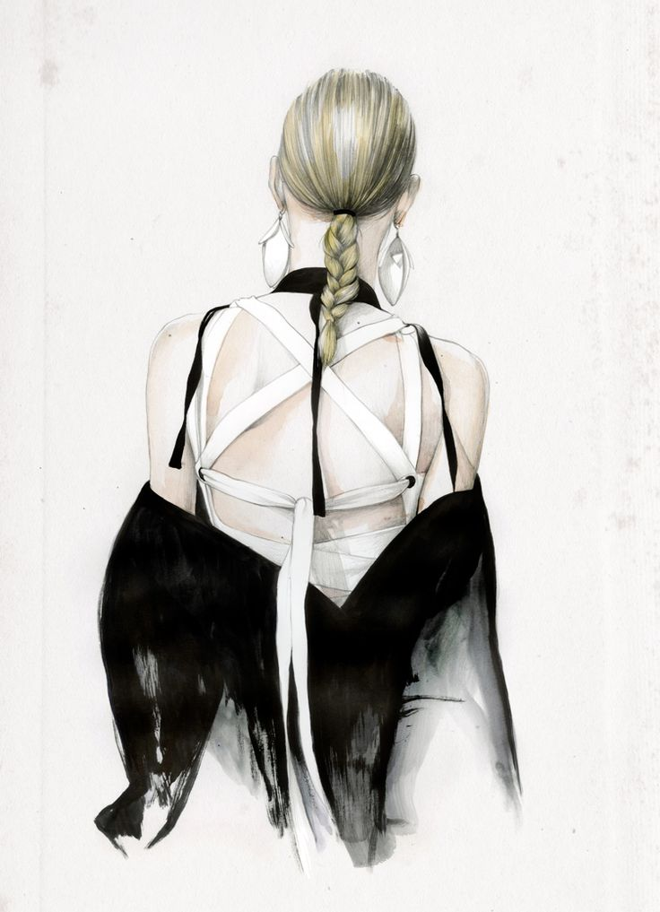 Fashion illustration for Proenza Schouler SS16 // Caroline Andrieu