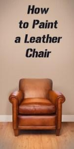 How to Paint a Leather Chair- tips, products, technique, etc! Total disclaimer on anybody trying this ... haha! Very interesting idea, tho!