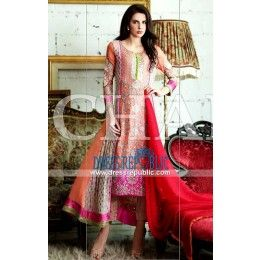Stitched Pakistani Clothes Online - Charizma Chiffon Collection 2015