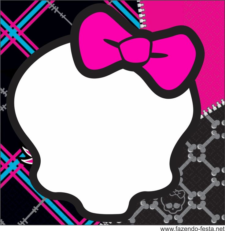 Monster High Skull: Free Printable Kit. - Is it for PARTIES? Is it ...