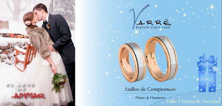 El Arte de Ammar ♥  Argollas de Matrimonio Oro & Platino / Anillos de Compromiso Platino & Diamante... Feliz Víspera de Navidad... #navidad #momentos #martes #tbt #joyería #diciembre #amor #yonovia