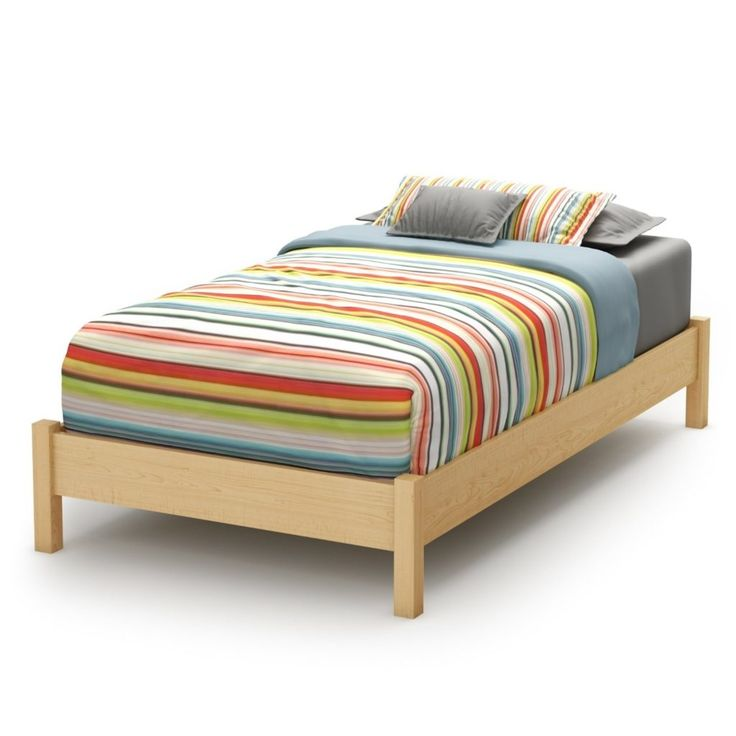 natural wood twin bed frame