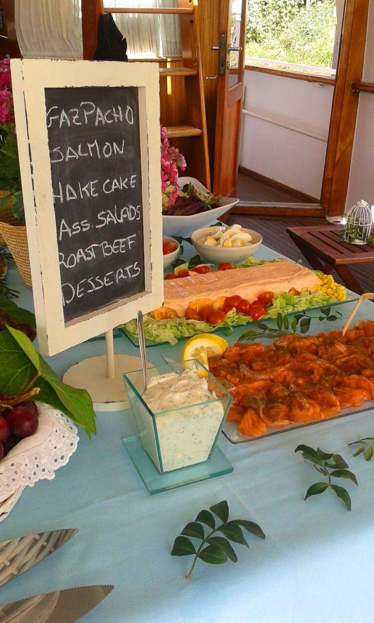 buffet in a boat. Seville