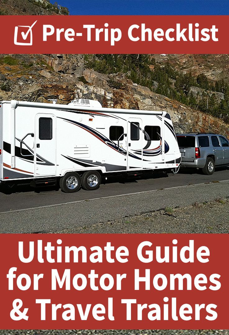 Download The FREE Pre Trip Checklist For Motorhomes And Travel Trailers When You
