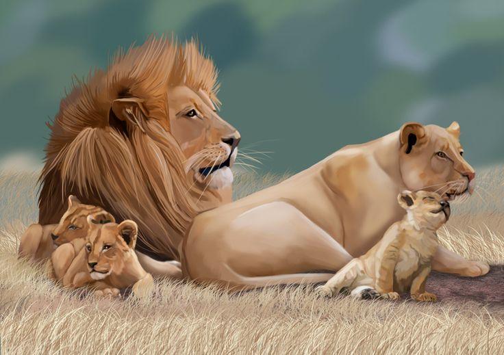 Сообщество иллюстраторов | Иллюстрация семья.